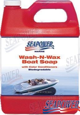 SEAPOWER WASH-N-WAX SOAP 5 LT.